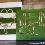 DIY: St Patrick's Day Thumbtack Art