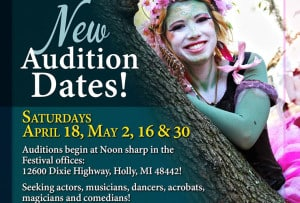 Michigan Renaissance Festival Open Auditions Extended!