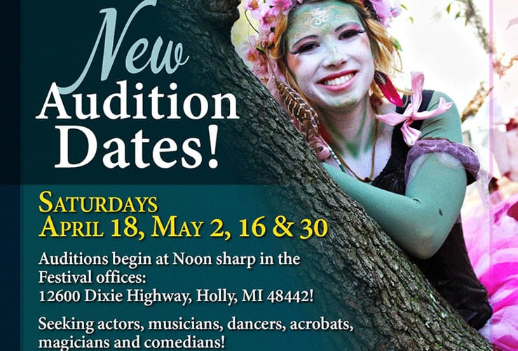 Michigan Renaissance Festival Open Auditions Extended!