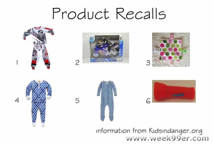 Children's Toy and Clothing Recalls