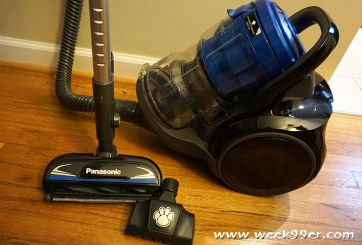 panasonic jetforce bagless canister vacuum can tackle any job