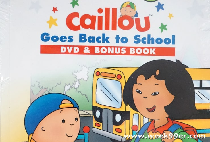 caillou goes back to school
