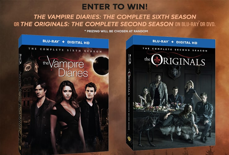 Enter to Win The Vampire Diaries or The Originals on Blu-Ray! #TVD #TheOriginals