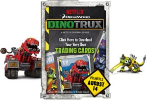DinoTrux Printable Trading Cards + Sneak Preview! #DinoTrux