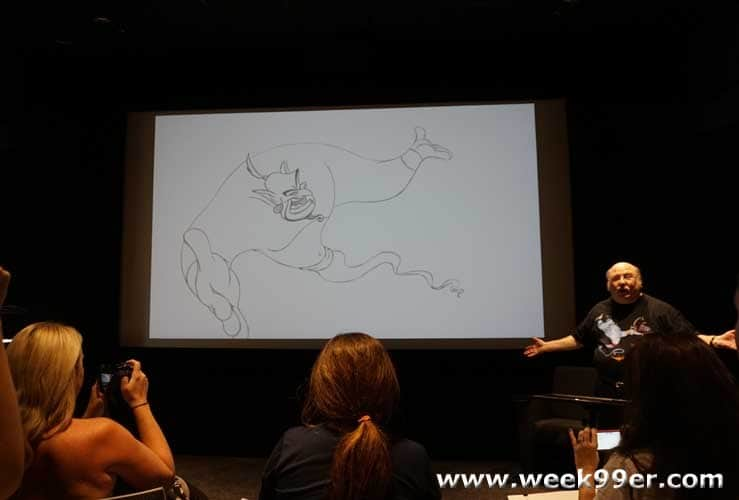 Creating the Genie and more with Animator Eric Goldberg #aladdinbloggers