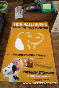 Snoopy pumpkin stencil