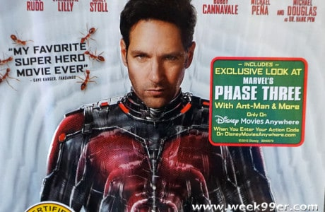 The Smallest Hero Ant-man comes to Blu-Ray and DVD!
