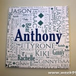 Dress Your Walls with Custom Family Word Art