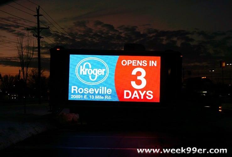 kroger store opening roseville