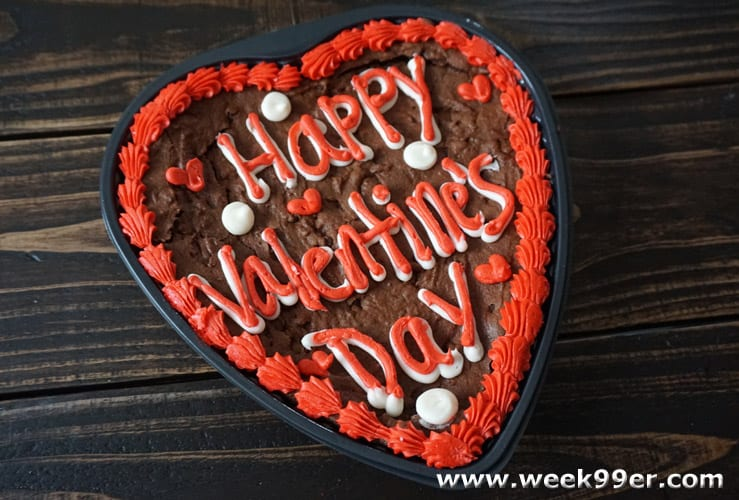 Valentine's Day Brownie Cake Review