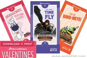 Download Free Valentines with Your Favorite DreamWorks Characters