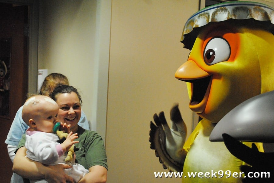 rio characters visit beaumont hospital