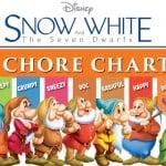 Free Printable Snow White Chore Charts