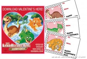 Free Land Before Time Printable Valentines