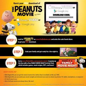 Digital Peanuts Movie Download Card