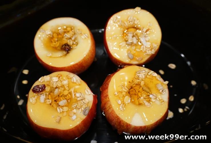slow cooker honey baked apples