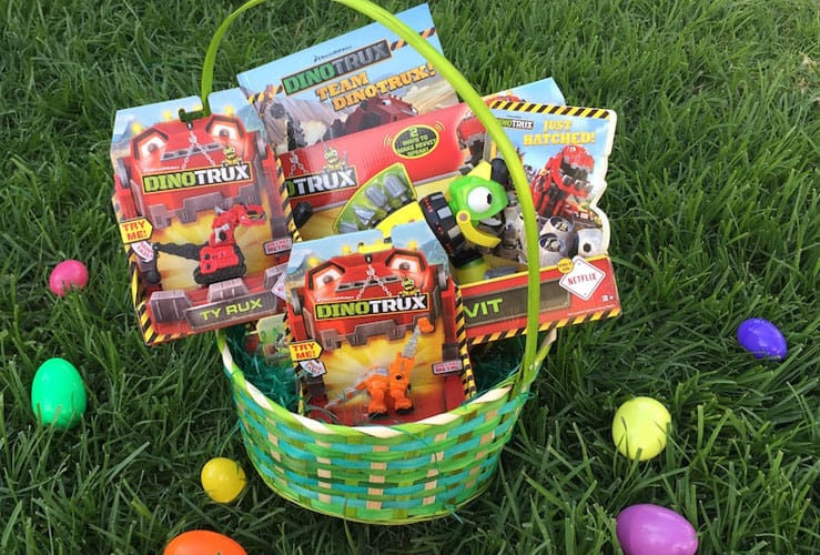 dinotrux easter basket