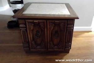krylon redoing a side table