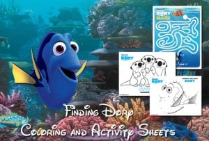 All New Finding Dory Coloring and Activity Sheets!