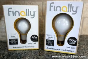 Save Power with Finally Light Bulbs #earthday