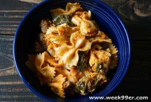 bowtie pasta with meat balls recipe