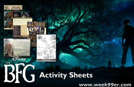 All New Activity Sheets for The BFG + Sweepstakes + More #TheBFG