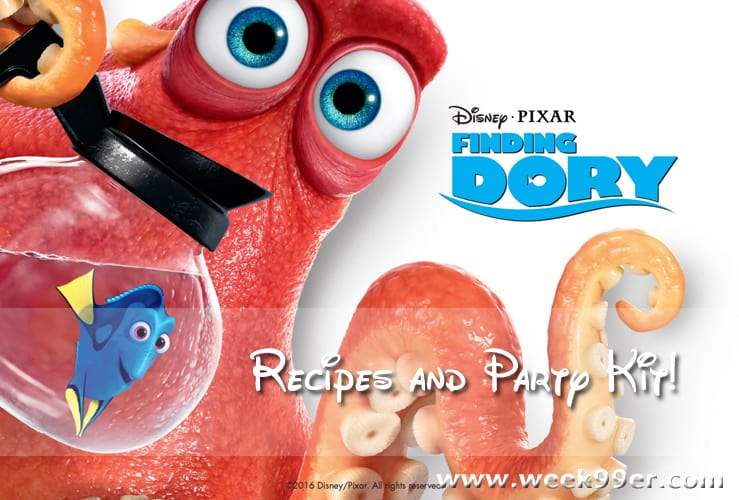 Throw a Finding Dory Pool Party with These Fun Recipes and Printables #findingdory #haveyouseenher