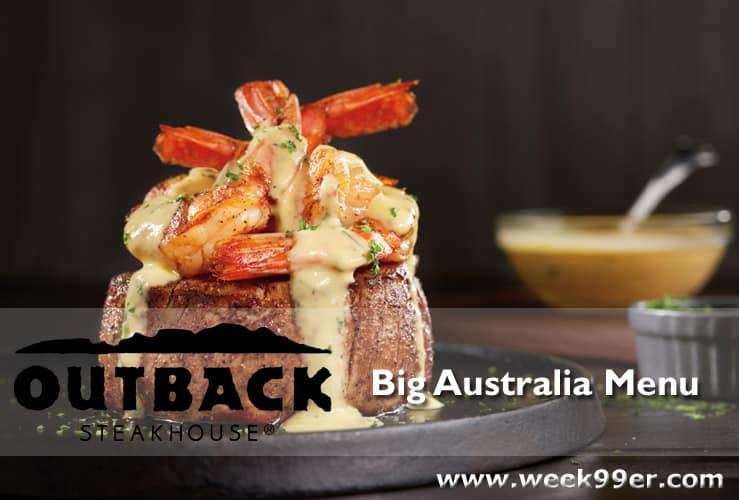 Outback Big Australia Menu