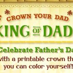 Print Your Dad his own Father's Day Crown from King Julien