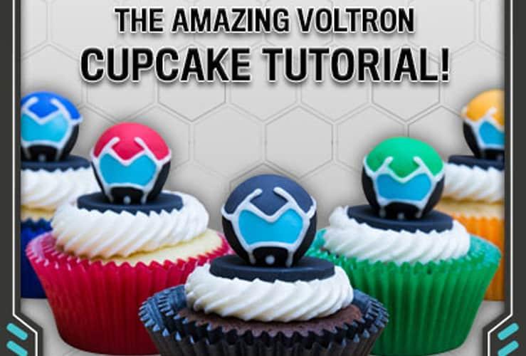 voltron cupcake tutorial