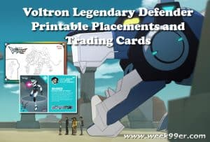 Voltron Legendary Defender Trading Cards + Coloring Sheets + New Clip #voltron
