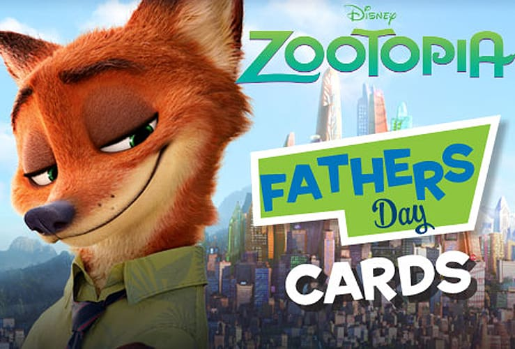 zootopia father's day cards