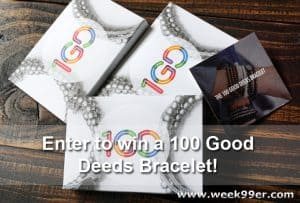 Enter to win a 100 Good Deeds Bracelet #1GD
