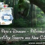 New Pete's Dragon Printable Activity Sheets + Clips #PetesDragon