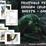 Printable Pete's Dragon Coloring Sheets + Games and Behind the Scenes #Petesdragon