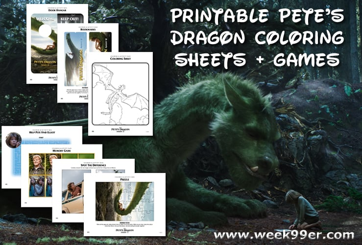 Printable Petes Dragon Coloring Sheets Games And Behind The