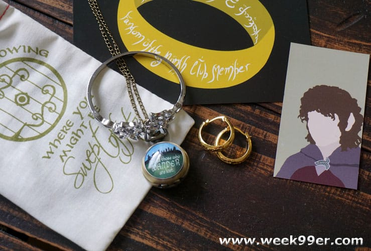 New Adventures in Middle Earth in the August Fandom of the Month Box #fandomofthemonth