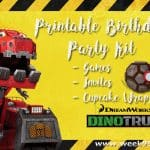 DINOTRUX is 1! Celebrate with a Printable Birthday Party Pack #DinoTrux