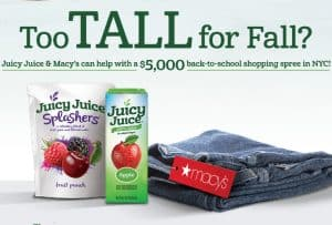 Enter to win a Perfect Fit Shopping Spree at Macy's from Juicy Juice #perfectfitsweeps