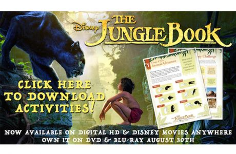 New Printable Activity Sheets for The Jungle Book + Bonus Clip #thejunglebook