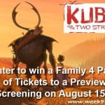 Win a Family 4 Pack to a Screening of Kubo & The Two Strings in Sterling Heights #KuboMovie