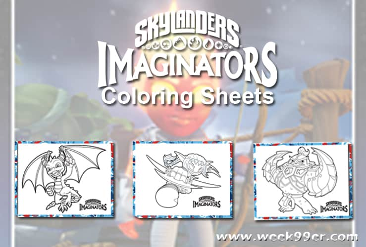 Skylanders Summer Games Printable Coloring Sheets
