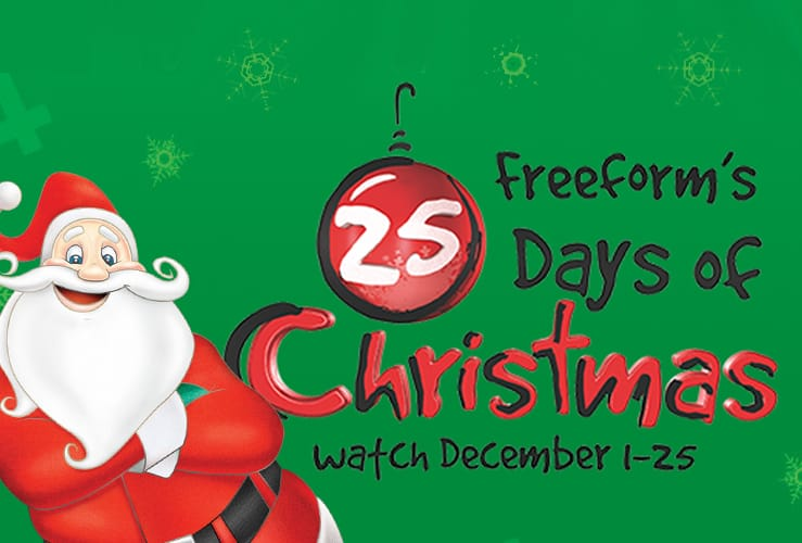image about Abc Family 25 Days of Christmas Printable Schedule named Freeforms 25 Times of Xmas Television Timetable and Where by in the direction of Attain
