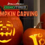 DinoTrux Pumpkin Stencils and Halloween Activities #dinotrux