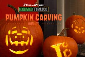 Dinotrux Halloween Games and Pumpkin Stencils