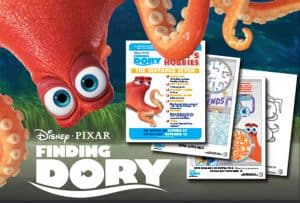 Celebrate World Septopus Day with Finding Dory Activity Sheets + Clips #worldseptopusday