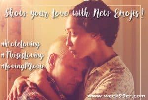 Show your Love with New Emojis! #VoteLoving #ThisisLoving #LovingMovie