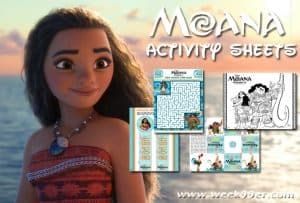 Moana Printable Activity Sheets and Coloring Pages! #moana