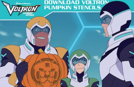 Free Voltron Pumpkin Stencils for Your Halloween Celebrations #Voltron