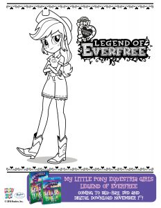 My Little Pony Everfree Coloring Sheet